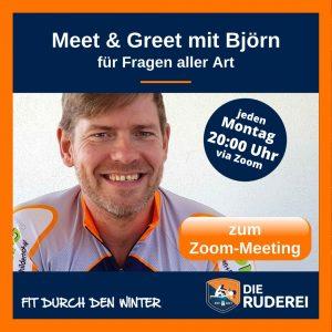 RUDEREI | ONLINE Team-Rowing | Meet & Greet mit Björn
